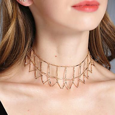 Pentru femei Line Shape Lux Clasic Coliere Choker Bijuterii Aliaj Coliere Choker . Nuntă Petrecere Zi de Naștere Logodnă Zilnic Ceremonie