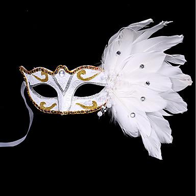1pc trupa de păr de păr mic pentru petrecerea de costume de Halloween aurul plat aur mascaradă masca pene masca pictura