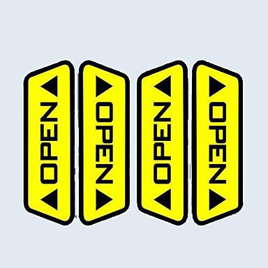 lot araba kapısı açık reflektif çıkartmalar anlaşmasını uyarı güvenlik sürüş Etkilemez her araç gerekli seçim yayalar (4 adet)