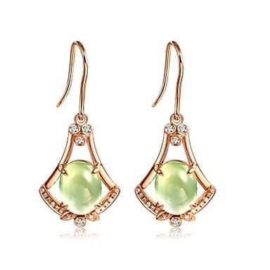 Pentru femei Cercei Stud Cristal Lux Natură Bling bling Modă stil minimalist Cristal Placat Cu Aur Roz Picătură Bijuterii Cadou Zilnic