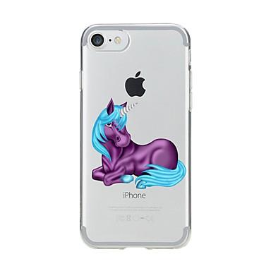 Caz pentru iphone 7 6 unicorn tpu soft ultra-subțire spate cover case acoperă iphone 7 plus 6 6s plus se 5s 5 5c 4s 4