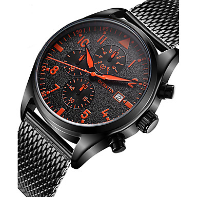 Bărbați Ceas de Mână Unic Creative ceas Ceas Casual Ceas Lemn Ceas Sport Ceas La Modă Quartz Calendar Oțel inoxidabil Bandă Lux Creative