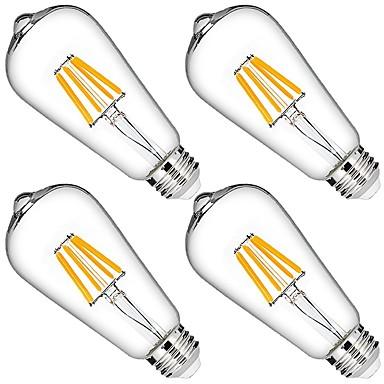 4 buc 6W 580 lm Bec Filet LED 6 led-uri COB Intensitate Luminoasă Reglabilă Decorativ Alb Cald AC 110-130V