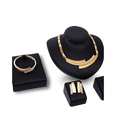 Pentru femei Ștras Ștras / Placat Auriu Altele Set bijuterii - Personalizat / Modă Geometric Shape Auriu Coliere cu Pandativ Pentru