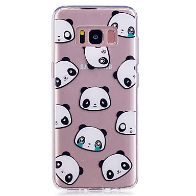 hoesje Voor Samsung Galaxy S8 Plus S8 IMD Transparant Patroon Achterkantje Panda Zacht TPU voor S8 S8 Plus