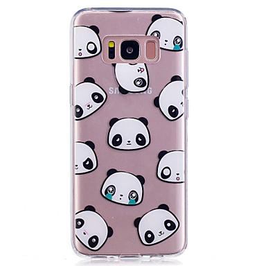 Maska Pentru Samsung Galaxy S8 Plus S8 IMD Transparent Model Capac Spate Panda Moale TPU pentru S8 Plus S8