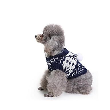 كلب البلوزات ملابس الكلاب كاجوال/يومي هندسي كوستيوم للحيوانات الأليفة
