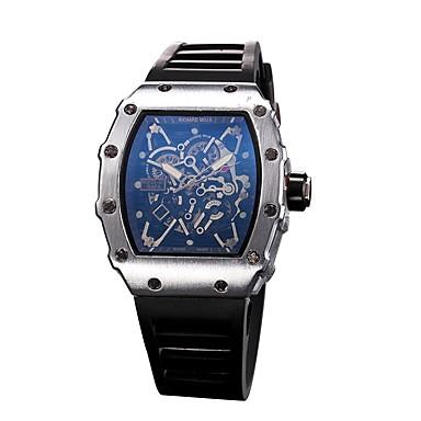 Χαμηλού Κόστους Ανδρικά ρολόγια-Ανδρικά Αθλητικό Ρολόι Διάφανο Ρολόι Ρολόι Καρπού Χαλαζίας καουτσούκ Μαύρο Καθημερινό Ρολόι Αναλογικό Φυλαχτό - Μαύρο Ασημί Χρυσό Τριανταφυλλί