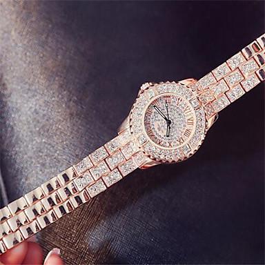 Pentru femei Ceas La Modă Ceasuri Pave Quartz Rezistent la Apă Gravură scobită Aliaj Bandă Argint Auriu Multicolor Roz auriu