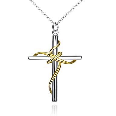 Bărbați Pentru femei Σταυρός Modă În Cruce Coliere cu Pandativ Bijuterii Argilă Coliere cu Pandativ . Petrecere Scenă