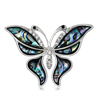 Pentru femei Broșe Ștras Natură Clasic Ștras Aliaj Animal Shape Fluture Bijuterii Pentru Scenă Crăciun