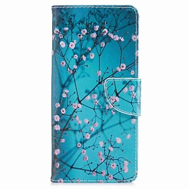 Maska Pentru Samsung Galaxy Note 8 Portofel / Titluar Card / Cu Stand Carcasă Telefon Floare Greu PU piele pentru Note 8