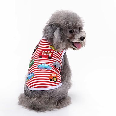 Câine Tricou Γιλέκο Îmbrăcăminte Câini Geometic Rosu Bumbac Costume Pentru animale de companie Bărbați Pentru femei Petrecere