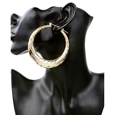 Pentru femei Cercei Rotunzi Bijuterii La modă Personalizat Placat Auriu Round Shape Bijuterii Pentru Scenă Club