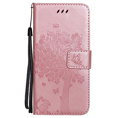 Pentru iPhone X Carcase Huse Portofel Titluar Card Cu Stand Întoarce Embosat Corp Plin Maska Fluture Copac Greu PU Piele pentru Apple