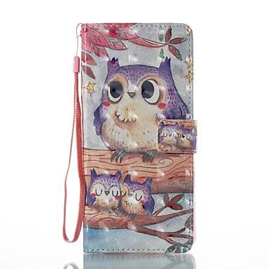 Maska Pentru Samsung Galaxy Note 8 Portofel Titluar Card Cu Stand Întoarce Model Magnetic Corp Plin Bufniţă Greu PU Piele pentru Note 8