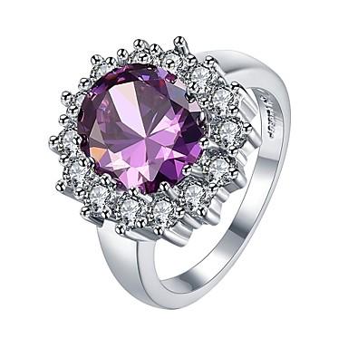 Pentru femei Band Ring Diamant sintetic Zirconiu Cubic Mov Roșu Închis Roz Deschis Zirconiu Zirconiu Cubic Aliaj Geometric Shape