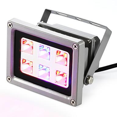 160-200 lm Kasvavat valaisimet 6 ledit Teho-LED Sininen Punainen AC 85-265V