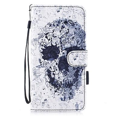 Pentru iPhone 7 iPhone 7 Plus Carcase Huse Portofel Titluar Card Cu Stand Întoarce Model Magnetic Corp Plin Maska Cranii Greu PU Piele