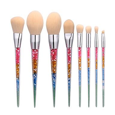 8 piese Seturi perie Perie Blush Perie Fard Perie Buze Perie pentru sprâncene Pensule Tuș Perie Corector Perie Pudră Perie Fond Contour