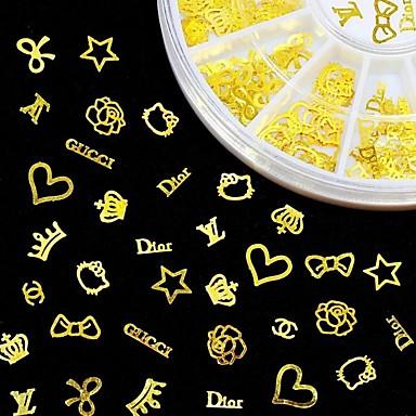 1 pcs Biżuteria do paznokci Sztuka zdobienia paznokci Manikiur pedikiur Codzienny Metaliczne / Moda