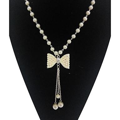 Pentru femei Altele Bowknot Shape Lux Bijuterii Statement Coliere cu Pandativ Imitație de Perle Imitație de Perle Aliaj Coliere cu