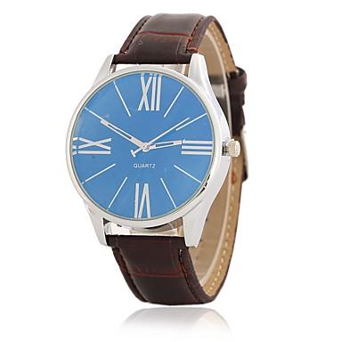 Bărbați Ceas de Mână Ceas Elegant  Ceas La Modă Chineză Quartz Mare Dial PU Bandă Lux Casual Elegant Negru Maro