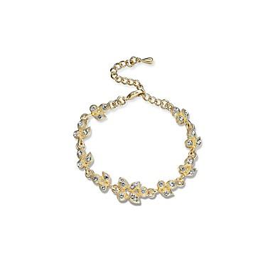Pentru femei Diamant sintetic Ștras Brățări cu Lanț & Legături - Clasic Natură Geometric Shape Auriu Brățări Pentru Logodnă Ceremonie