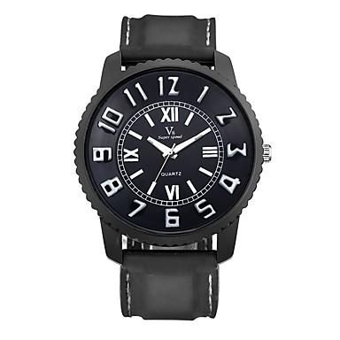 Bărbați Ceas Sport Ceas de Mână Ceas Casual Quartz / Silicon Cauciuc Bandă Vintage Casual Negru