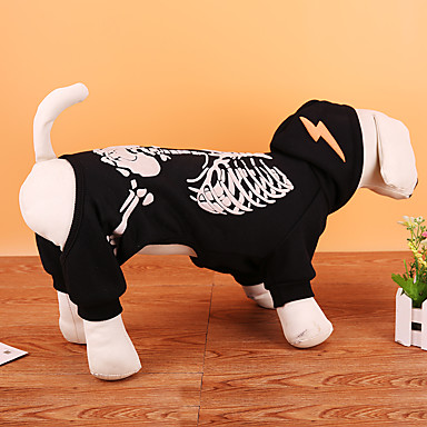 Câine Costume Haine Hanorca Îmbrăcăminte Câini Cranii Negru Rosu Terilenă Costume Pentru animale de companie Petrecere Cosplay Crăciun
