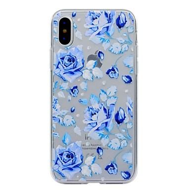 Transparente iPhone Custodia TPU Plus Apple 06196542 8 Per Fiore Fantasia iPhone Morbido decorativo iPhone retro iPhone per X 8 X disegno Per pPrqxp