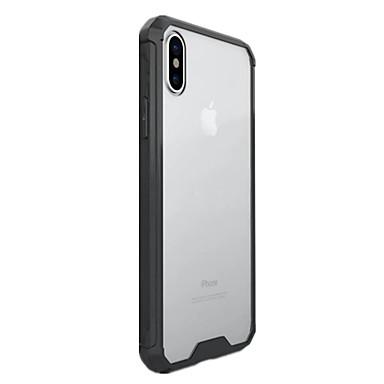 Pentru iPhone X iPhone 8 iPhone 8 Plus Carcase Huse Transparent Carcasă Spate Maska Culoare solidă Greu PC pentru Apple iPhone X iPhone 8