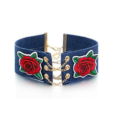 Pentru femei Floare Formă Floral Hip-Hop Coliere Choker Aliaj Coliere Choker Casual Dată Costum de bijuterii