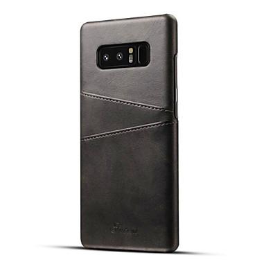 voordelige Galaxy Note-serie hoesjes / covers-hoesje Voor Samsung Galaxy Note 8 Kaarthouder Achterkant Effen Hard PU-nahka