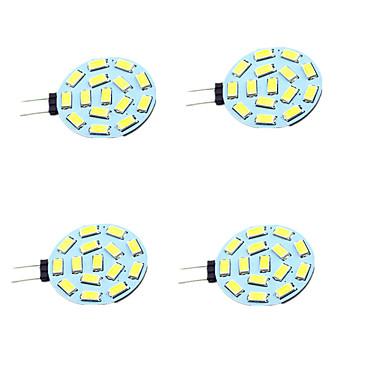 4 개 1W 200lm G4 LED Bi-pin 조명 T 15 LED 비즈 SMD 5730 장식 따뜻한 화이트 차가운 화이트 12-24V