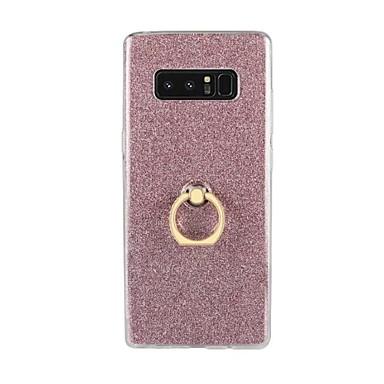 voordelige Galaxy Note 5 Hoesjes / covers-hoesje Voor Samsung Galaxy Note 8 / Note 5 / Note 4 Ringhouder Achterkant Glitterglans Zacht TPU