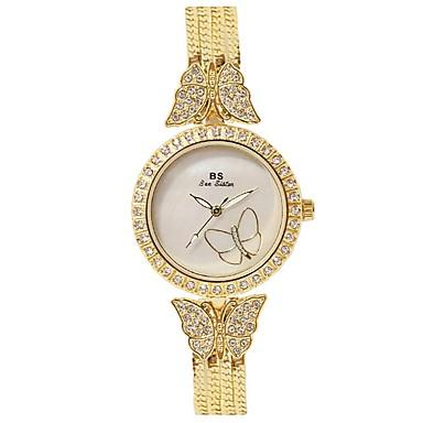 Pentru femei Ceas de Mână Ceas Brățară Simulat Diamant Ceas Quartz Cronograf Rezistent la Apă Luminos Oțel inoxidabil Bandă Sclipici
