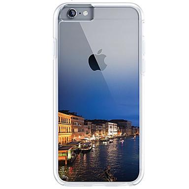 Maska Pentru Apple iPhone 7 Plus iPhone 7 Ultra subțire Transparent Model Capac Spate city View Moale TPU pentru iPhone 7 Plus iPhone 7