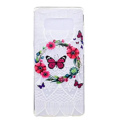 Maska Pentru Samsung Galaxy Note 8 Note 5 Ultra subțire Model Carcasă Spate Fluture Floare Moale TPU pentru Note 8 Note 5 Edge Note 5