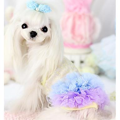 Câine Rochii Îmbrăcăminte Câini Casul/Zilnic Prințesă Albastru Roz Costume Pentru animale de companie