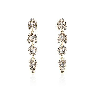 Pentru femei Cercei Picătură Diamant sintetic Personalizat Natură Ștras Aliaj Geometric Shape Bijuterii Petrecere Casual Costum de