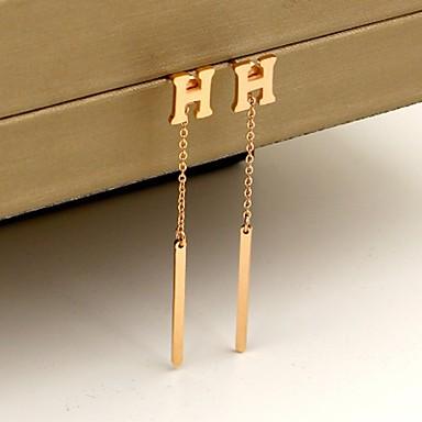 Pentru femei Cercei Stud Bijuterii Modă stil minimalist Oțel titan Pătrat Bijuterii Casual Ieșire