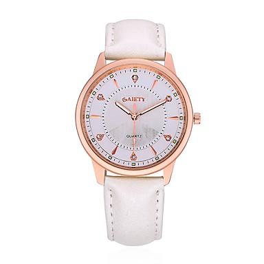 Pentru femei Ceas de Mână Ceas Elegant Ceas La Modă Ceas Casual Chineză Quartz Piele Bandă Charm Prăjit Casual Elegant Negru Alb