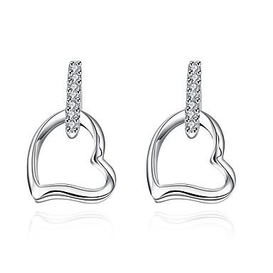Pentru femei Cercei Stud Zirconiu Cubic Inimă Cute Stil Zirconiu Cubic Argilă Heart Shape Bijuterii Pentru Petrecere Muncă