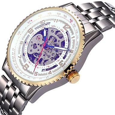 Bărbați Pentru femei Ceas Sport Ceas Schelet ceas mecanic Japoneză Mecanism automat Calendar Cronograf Rezistent la Apă Gravură scobită