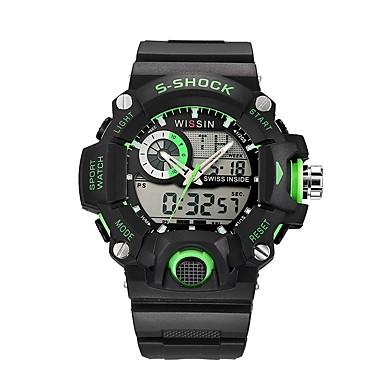 Bărbați Ceas Sport Ceas de Mână Ceas Casual Ceas digital Swiss Piloane de Menținut Carnea Calendar Cronograf Rezistent la Apă LED Zone