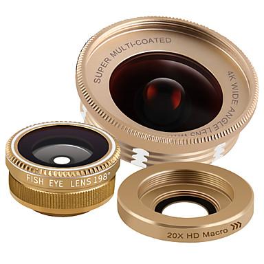 xihama b12 lentilă pentru telefoane mobile 198 lentilă pentru ochi de pește 120 lentilă cu unghi larg de 20x aluminiu din aliaj de