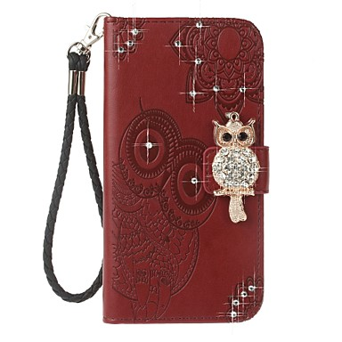 Case For Samsung Galaxy J7 (2017) J5(2016) J3 (2017) J3(2016) Card Holder Wallet Rhinestone with Stand Flip Pattern Embossed Full Body