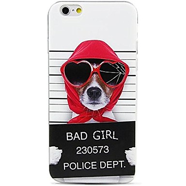 Case For Apple iPhone X iPhone 8 Pattern Back Cover Dog Word / Phrase Soft TPU for iPhone X iPhone 8 Plus iPhone 8 iPhone 7 Plus iPhone 7