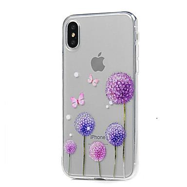 Pentru iPhone X iPhone 8 iPhone 8 Plus Carcase Huse Ultra subțire Transparent Model Carcasă Spate Maska Păpădie Moale TPU pentru Apple